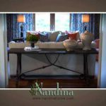 A short video on how to use a sofa table as a focal point