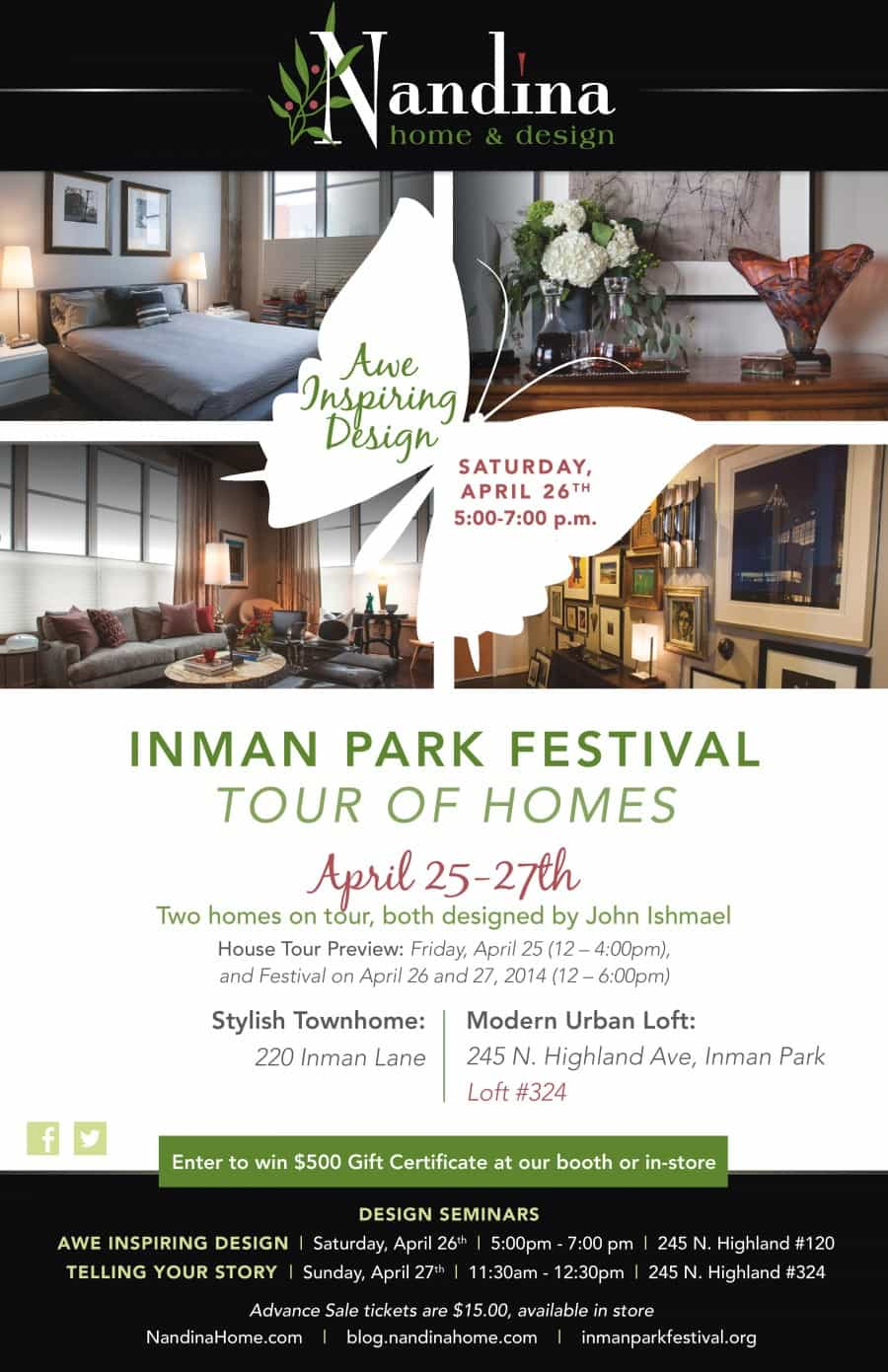 You\'re Invited: Inman Park Tour of Homes - Nandina Home