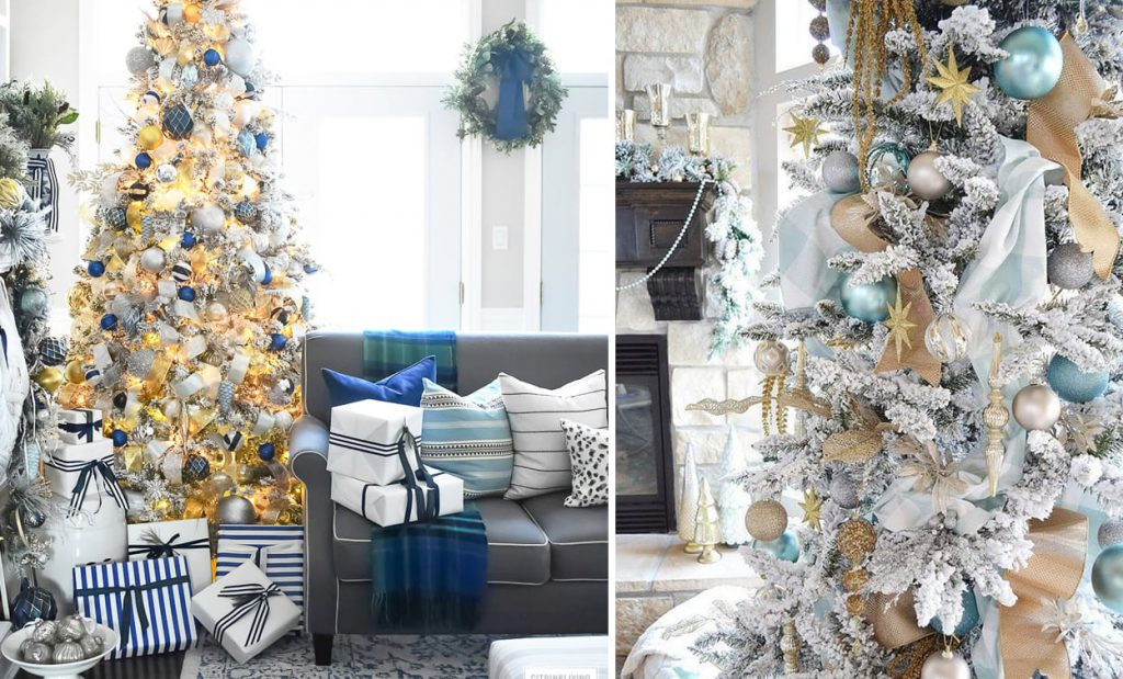 Frosted Midnight Christmas Decor