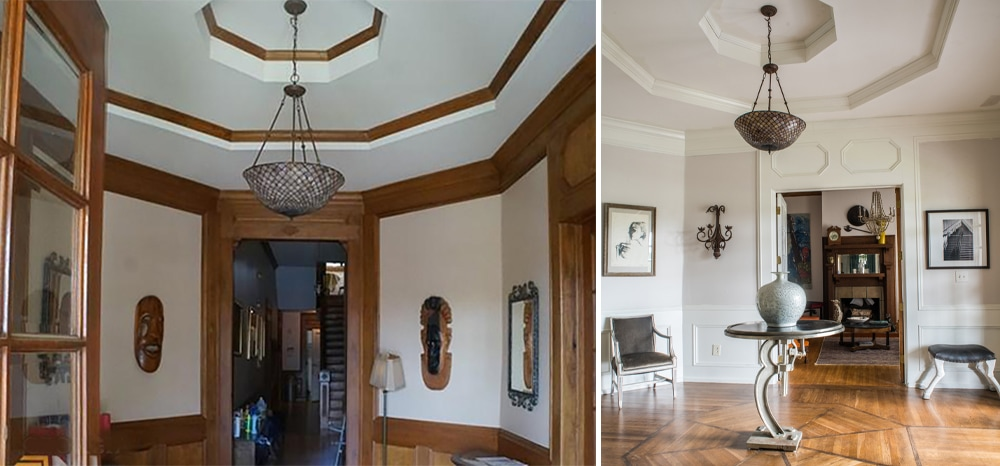 Before After Historic Home Atlanta Entry Way Foyer