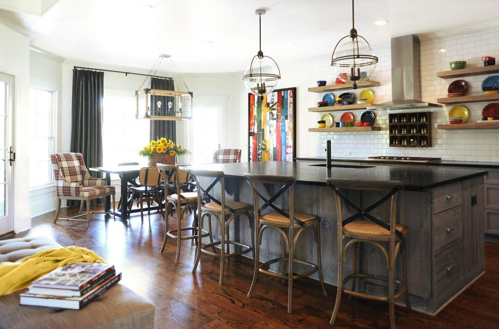 Kitchen designed by Susan Victor and Sue Shannon of Nandina Home & Design