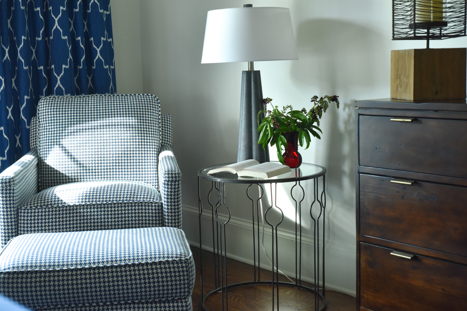 4th of July - Blue Room designed by Susan Victor of Nandina Home and Design