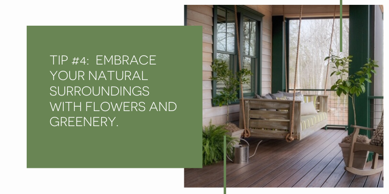 Outdoor Porch designed by Michele Merritt of Nandina Home and Design