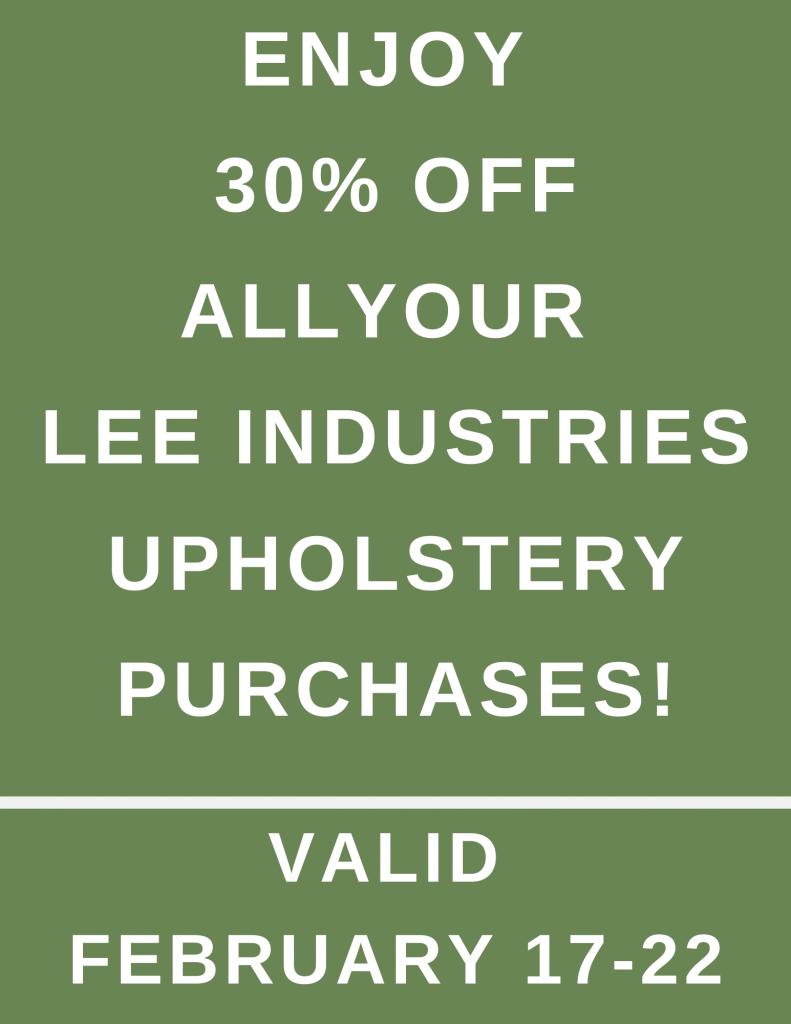 Lee Industries 30% off