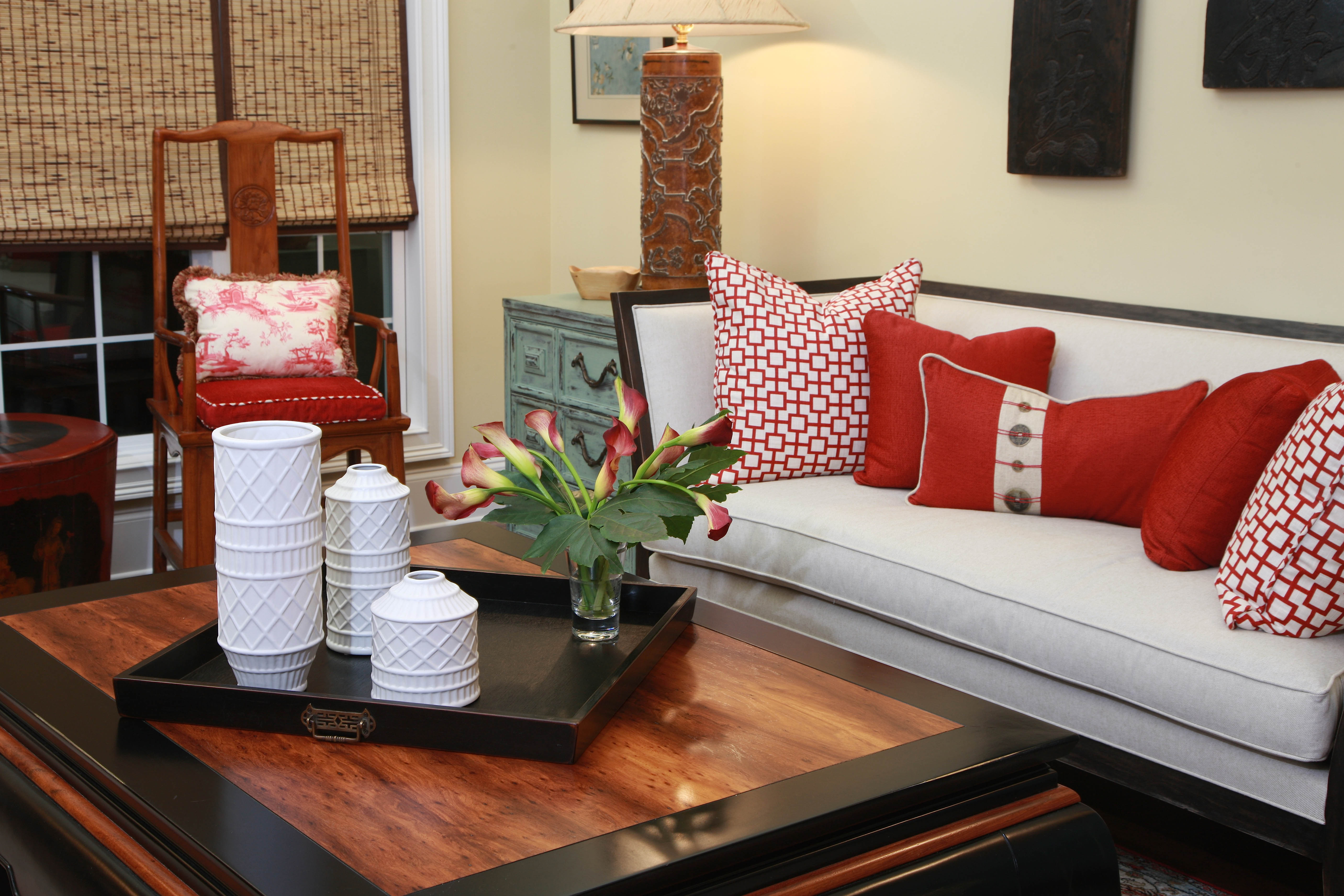 Red Room designed by Susan Victor of Nandina Home and Design
