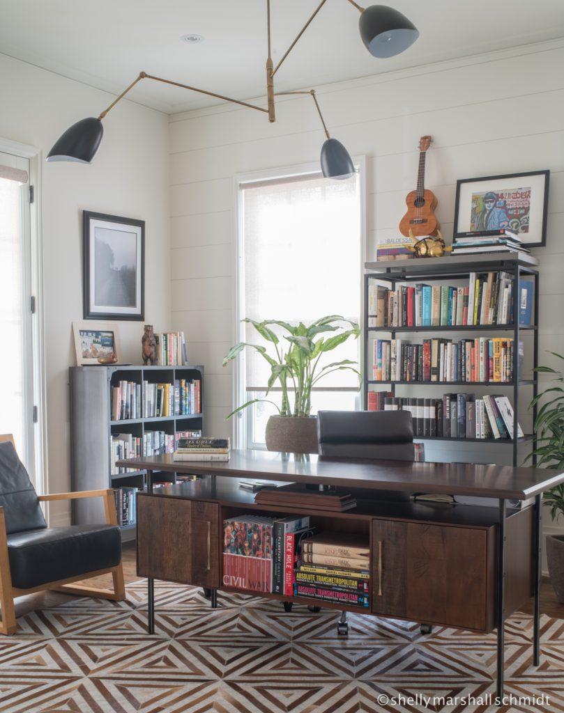 Home office and desk designed by Atlanta interior designer Jessie LaFalce of Nandina Home and Design