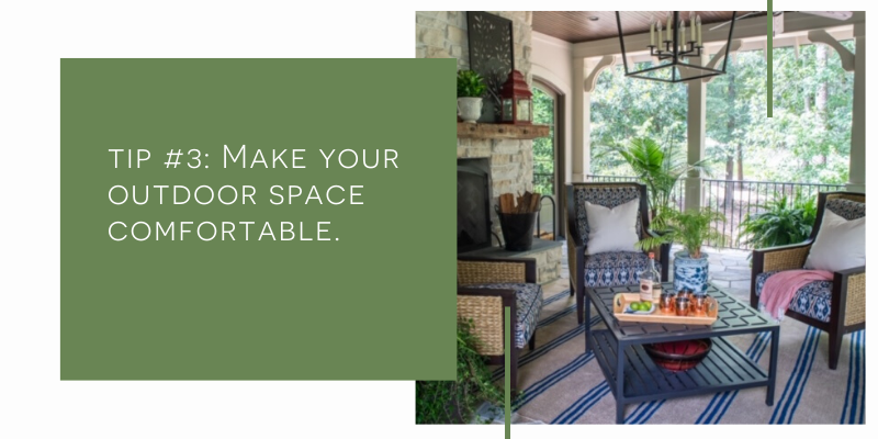 Outdoor Porch setting designed by Sue Shannon of Nandina Home - Aiken