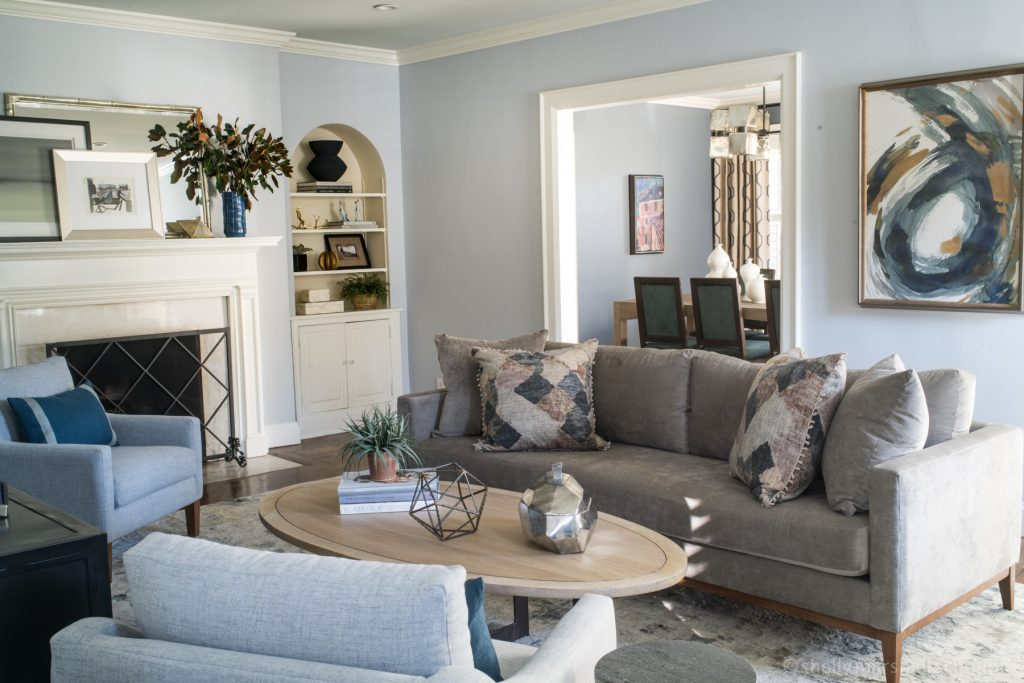 Image of a Living Room. The Art of Accessorizing