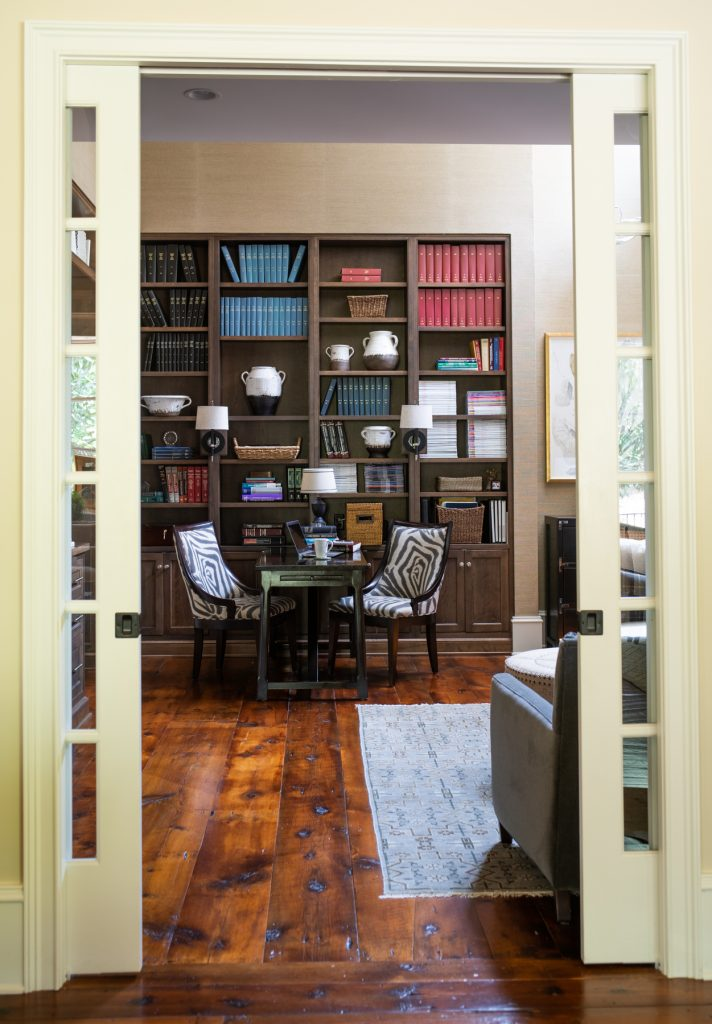 Home office and desk designed by Aiken interior designer Sue Shannon of Nandina Home and Design