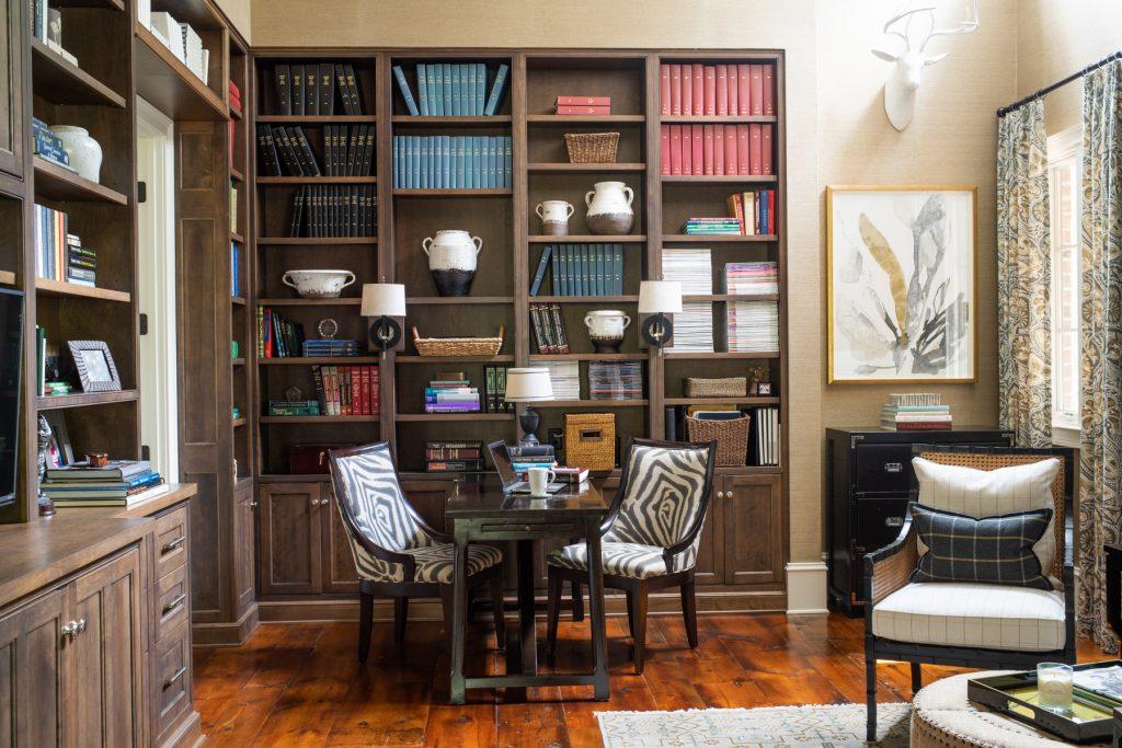 Office designed by Aiken interior designer Sue Shannon of Nandina Home and Design