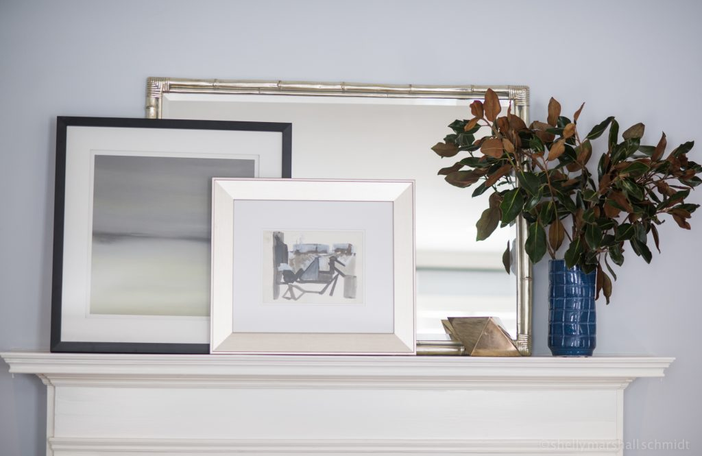 Image of a fireplace mantle. The Art of Accessorizing