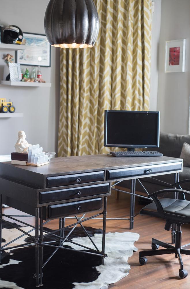 Home office and desk designed by Atlanta interior designer John Ishmael of Nandina Home and Design