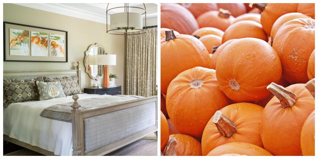 Fall Interiors - Orange Pops of Color