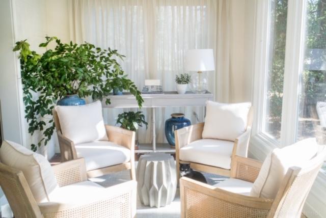 Sunroom designed by Jessie LaFalce of Nandina Home & Design