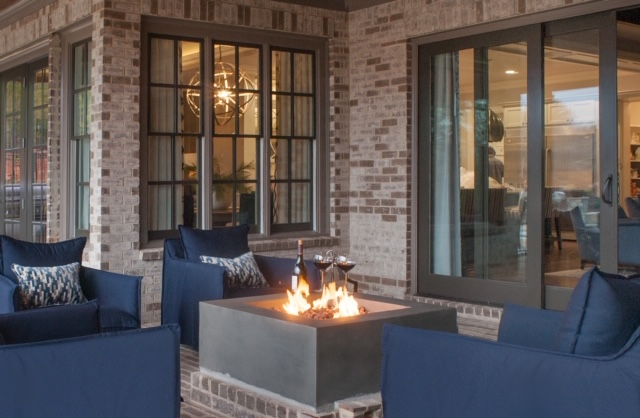 Firepit at an Atlanta area home designed by John Ishmael