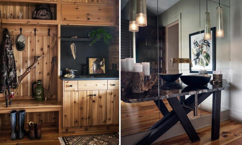 Nandina Home Design Rustic Hunt Cabin Guest Bathroom Powder Room Southern Home 1024x614