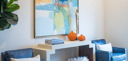 atlanta interior design showroom painting & decorative table