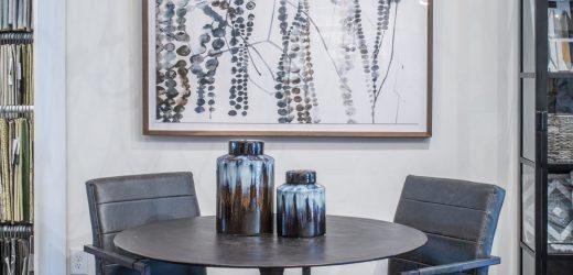 atlanta interior design showroom table & chairs
