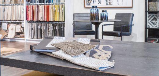 atlanta interior design showroom desk and swatches