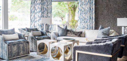 atlanta interior design showroom sitting area